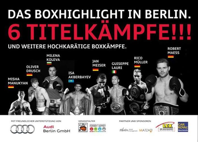 Sechs Titelkämpfe - Boxkampf in Berlin