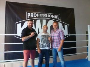 Alexander Petkovic, Howik Barsegjan und Tobias Drews / Foto: Petko´s LMS Boxpromotion