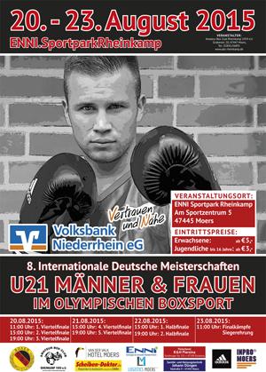 Plakat Boxen U21 Meisterschaft 2015