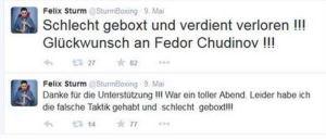 Sturm Posting Twitter