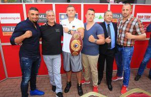 """SES Boxing """"Open-Air Heimspiel"""" am 4. Juni-PK / Foto: SES Team - P. Gercke"""