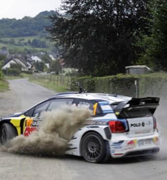 Sébastien Ogier (F), Marco Huck (IBO Box-World-Champion), Taxi ride Volkswagen Polo R WRC WRC Rally Germany 2016
