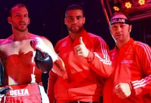 Mario Daser, Manuel Charr und Bülent Baser / Foto: EC Boxing