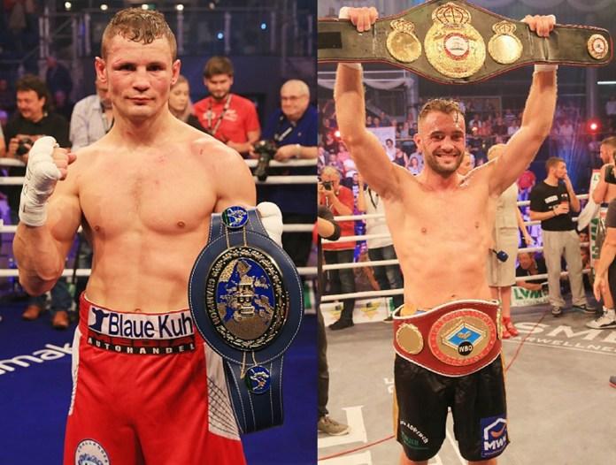 Europameister Robert Stieglitz und WBO-/WBA-Inter-Conti-Champion Dominic Bösel / Foto: SES Team