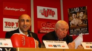 Arthur Abraham und  Ulli Wegner - Foto: Team SES / E. Popova