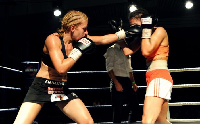 Sandra Atanassow im IDM-Titelkampf gegen Karina Kopinska