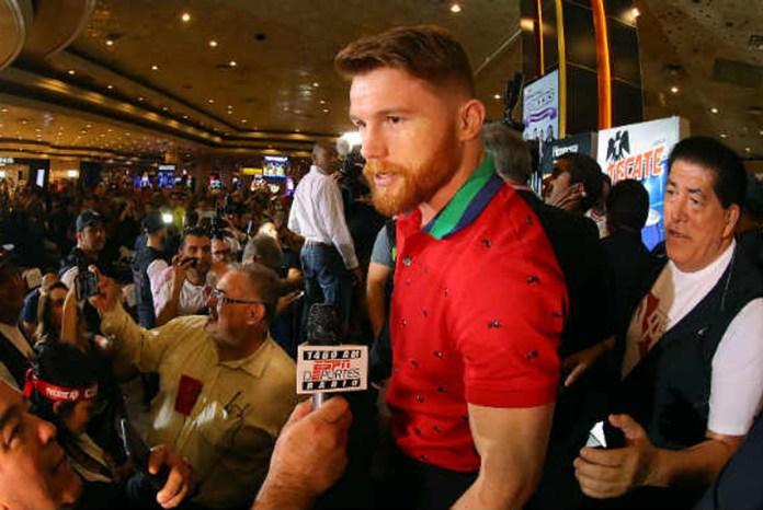 Canelo Alvarez am gestrigen Dienstag bei seiner Ankunft im MGM Hotel in Las Vegas