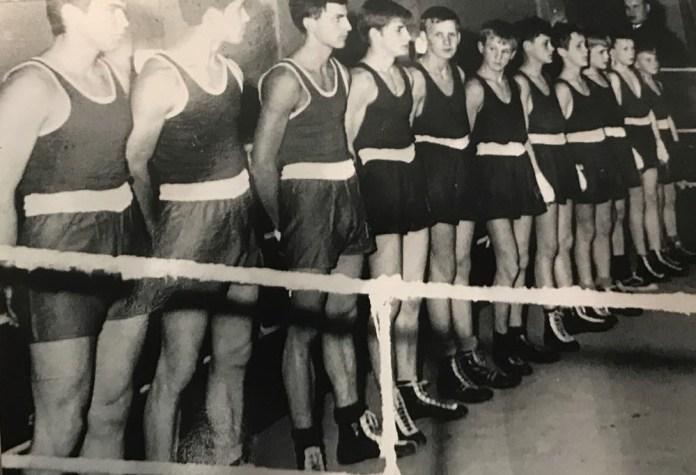 Greifswalder Zeiten -- links Fritz Sdunek, 4. von links Winfried Spiering, 3. von rechts Hartmut Schroder