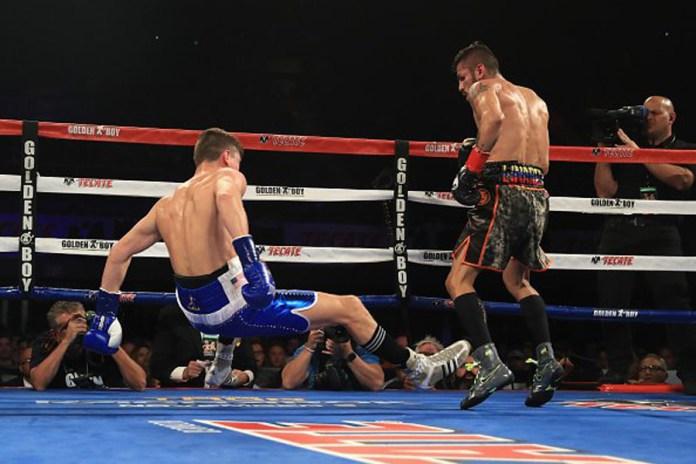 Jorge Linares schlägt Campell in der 2. Runde schwer zu Boden