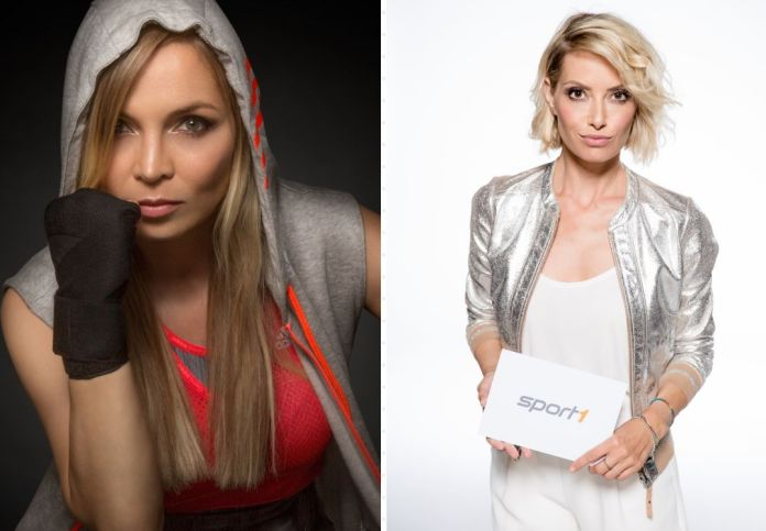 Frauenpower im Doppelpack für SPORT1! (Quelle Regina Halmich: Claudio di Lucia, Quelle Sarah Valentina: SPORT1   Nadine Rupp)