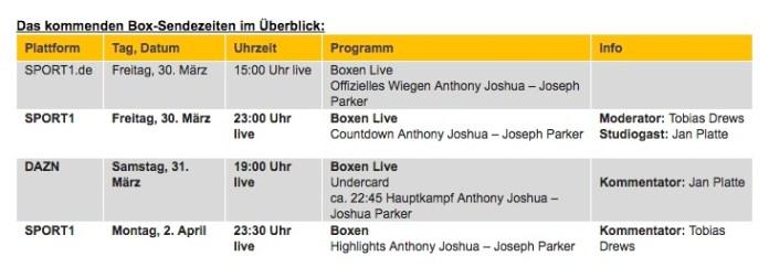 Sport1 Sendezeit