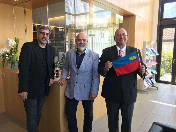 Der neue Verwaltungsrat des Liechtensteiner Box-Verandes (LBV), von links Diethelm Straube, Vize-Präsident Ramon Guirao Diaz und der neue Präsident Dipl. Ing. Ulrich Bittner.
