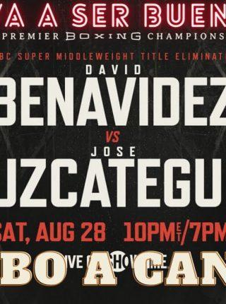 David Benavidez vs. Jose Uzcategui Poster