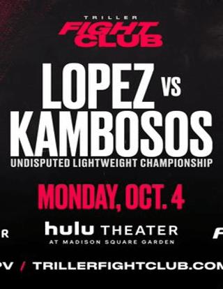 Teofimo Lopez vs George Kambosos Jr. Fight-Poster
