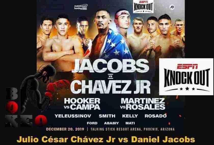 Julio César Chávez Jr vs Daniel Jacobs, este Viernes en VIVO por ESPN