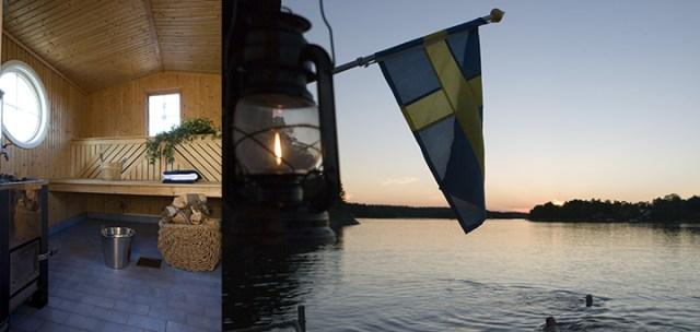 Privat bastuflotte i Stockholms skärgård Image