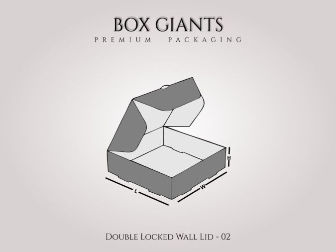 Custom Printed Double Locked Wall Lid Boxes