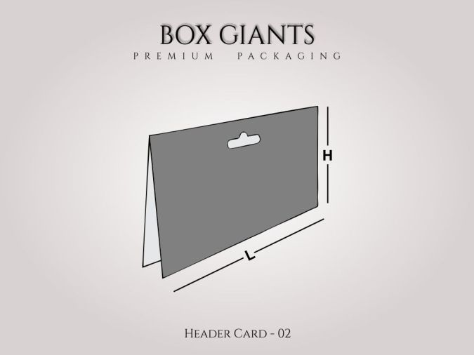 Custom Printed Header Card