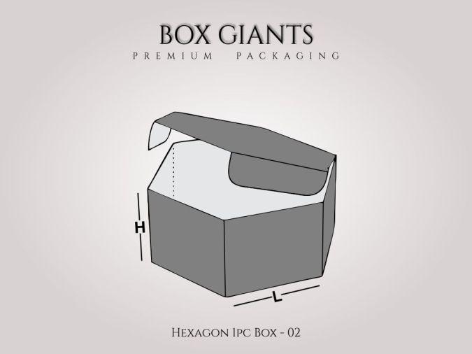 Hexagon 1 PC Boxes