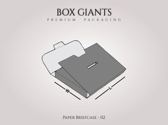 Paper Briefcase Boxes
