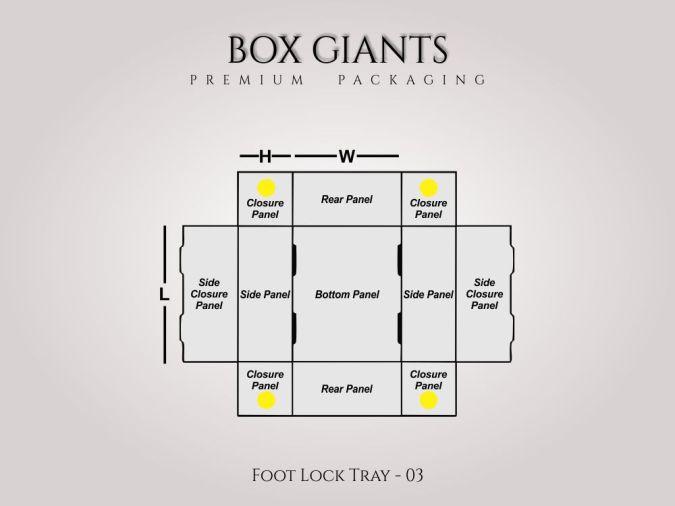 Custom Printed Foot Lock Tray