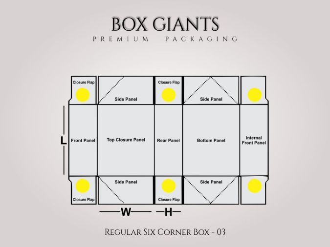 Custom Printed Regular Six Corner Boxes