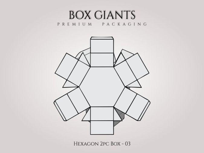 Custom Printed Hexagon 2 PC Boxes