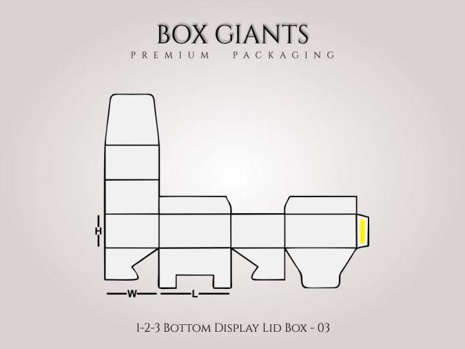 1-2-3 Bottom Display Lid Boxes