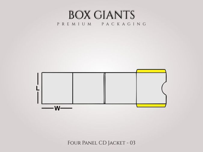 Custom Printed Four Panel CD Jacket