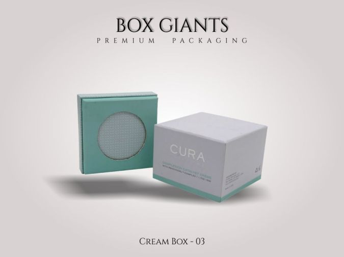 Custom Printed Cream Boxes