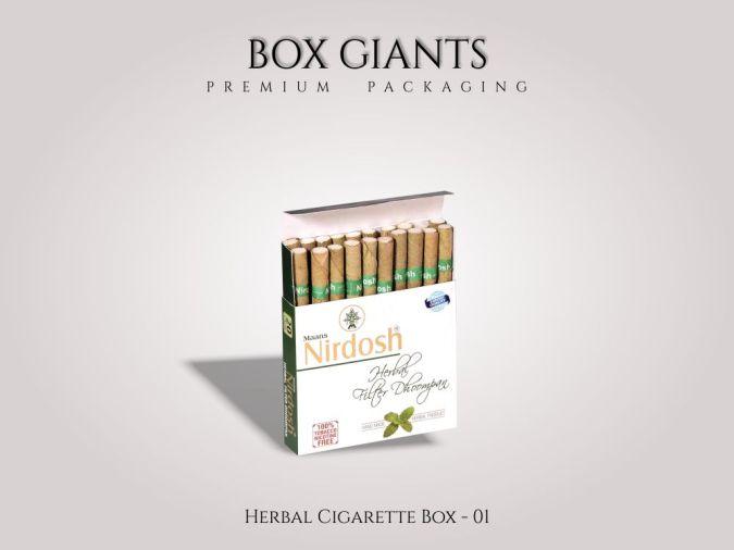 Custom Printed Herbal Cigarette Boxes