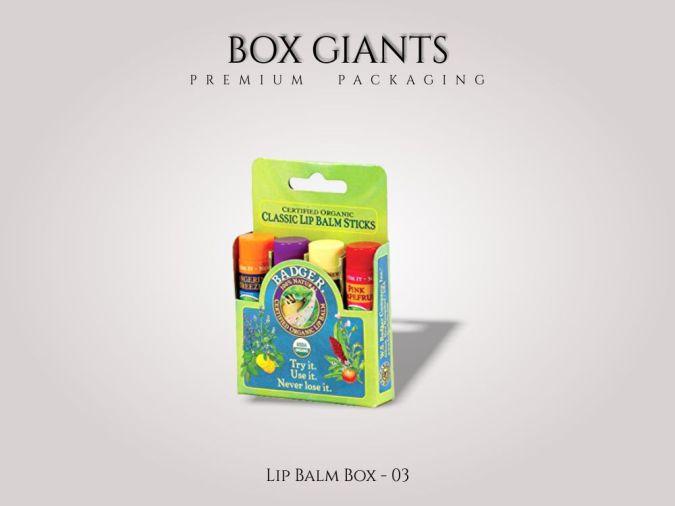 Custom Printed Lip Balm Boxes