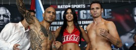 Miguel Cotto and Daniel Geale Weigh-inWBC Middleweight ChampionshipMiguel Cotto 153.6Daniel Geale 157Photo Credit: Will Hart