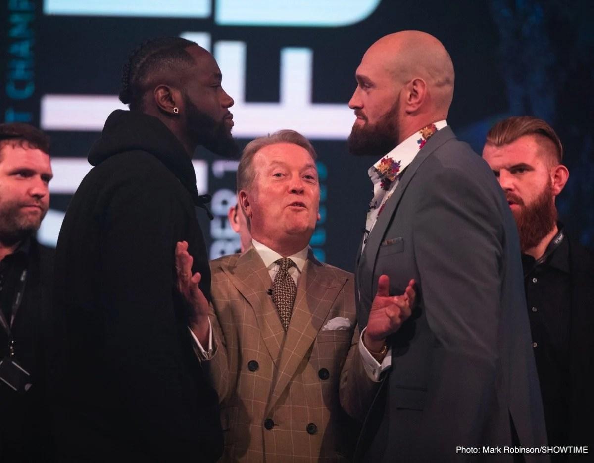 Deontay Wilder Tyson Fury Boxing News British Boxing