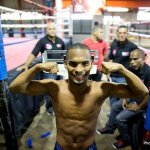 9 ago 2013 Bomba Gonzalez last pre weigh in and training for Giovani Segura 5