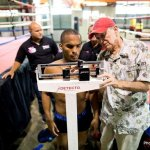 9 ago 2013 Bomba Gonzalez last pre weigh in and training for Giovani Segura