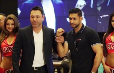 Amir Khan makes his MGM Grand arrival ahead of Canelo Alvarez clash