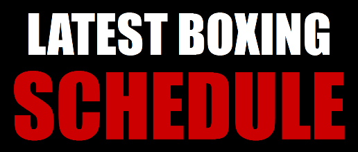 Latest Boxing Schedule Banner