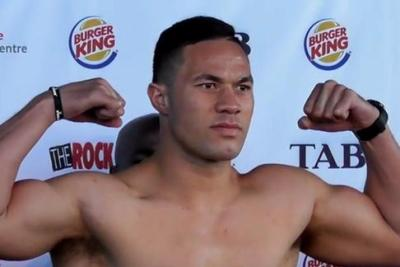 Joseph Parker poses at weigh-in