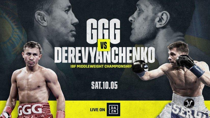 Gennady Golovkin DAZN Golovkin vs. Derevyanchenko Matchroom Boxing Sergiy Derevyanchenko