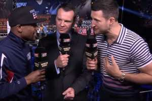 Carl Froch's Reaction To Joshua Weight For Povetkin Fight In Tonight's Boxing