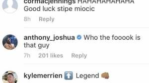 Anthony Joshua responds