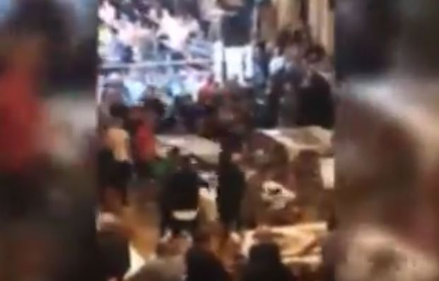 Shocking Footage As Riot Unfolds At UK Boxing Event, One Stabbed