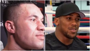 Anthony Joshua and Joseph Parker Sparring