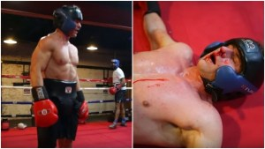 Boxer Fights Cocky Body Builder