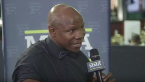 Eubank Senior Stands By Nick Blackwell