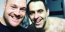 Tyson Fury With Topless Ronnie O'Sullivan