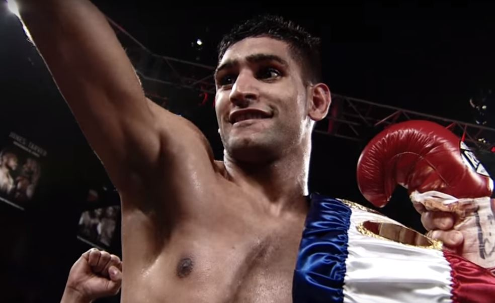 Watch: Amir Khan Destroys Lo Greco In 39 Seconds In Comeback Fight