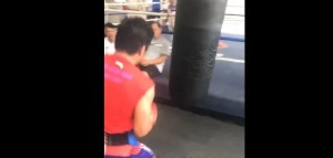 Pacquiao Throws 5 Punches