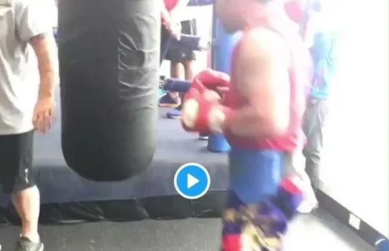 Pacquiao Leaks Footage Showing Off Blinding Speed